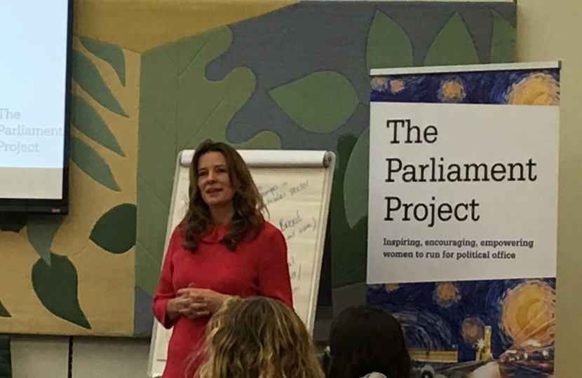 Gillian talking at Project Parliament