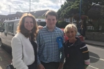 Gillian Keegan with James Watts and Louise Goldsmith, Leader of WSCC