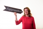 Gillian Keegan with apprentice sign
