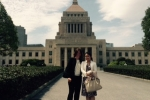 Gillian Keegan outside the National Diet of Japan